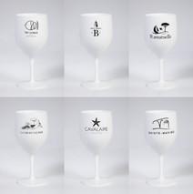 Lot de 6 verres blanc incassables