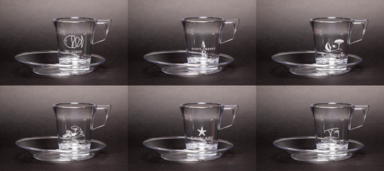 Lot de 6 tasses transparents   incassables