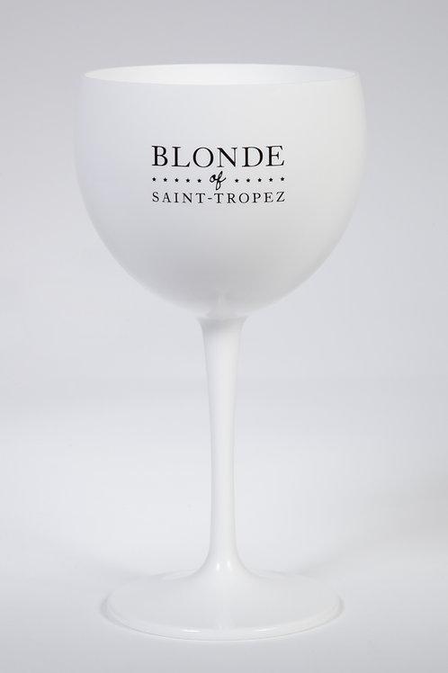 Calice Blanc Acrylique Blonde of Saint Tropez