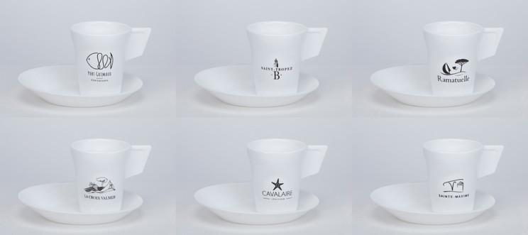 Lot de 6 tasses blanches  incassables