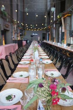 Industrial Wedding Dinner