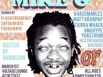 NO SIR E opening for Mike G of Odd Future (set time 7pm)
