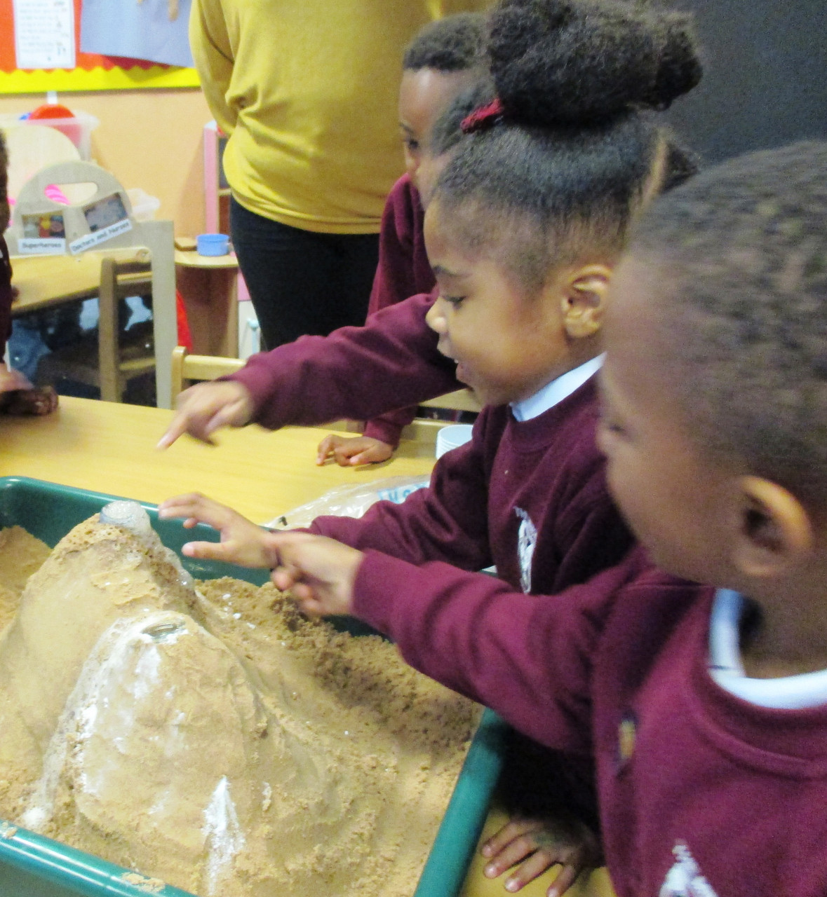 The volcanoes erupted!