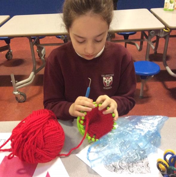Knitting in Breakfast Club