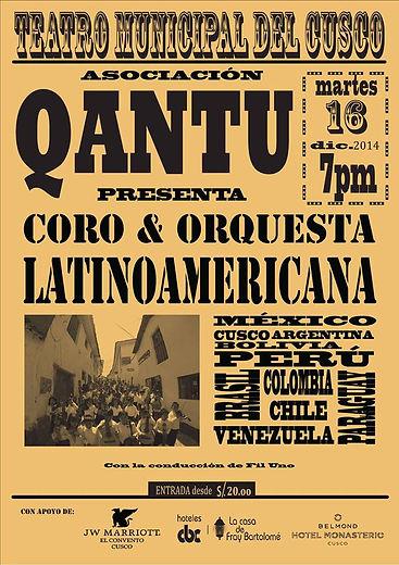 Fil Uno y Qantu Coro y Orquesta, Cusco2014
