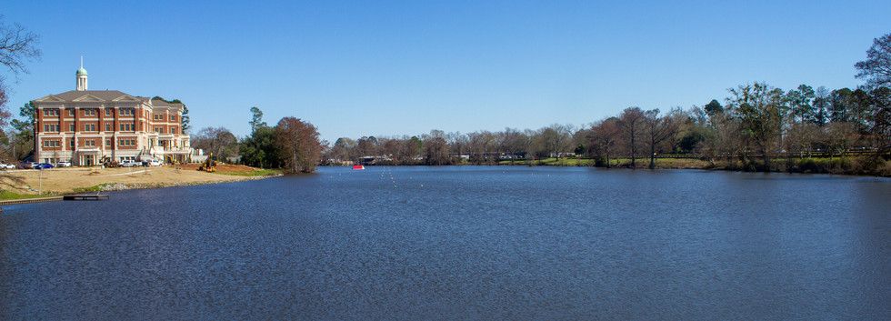 A look at the Bayou deSiard from the Library end