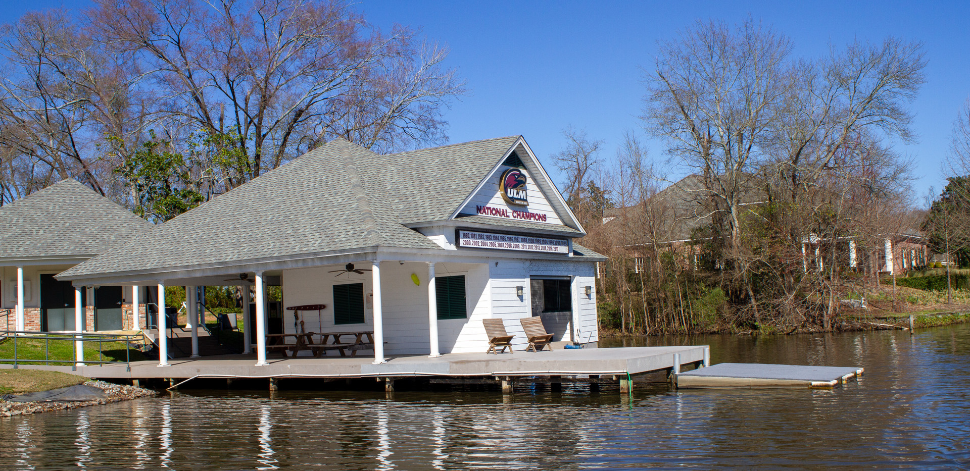 Boat house and ski dock
