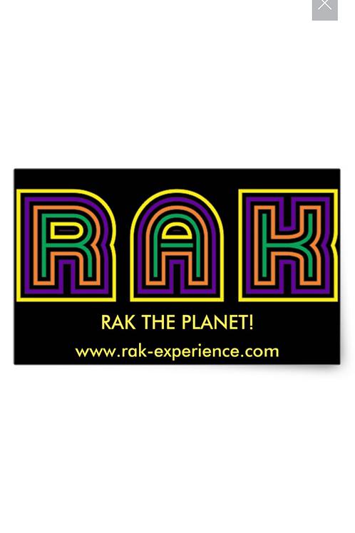 Rectangular RAK Stickers, Glossy, 4.5 x 2.7 inches