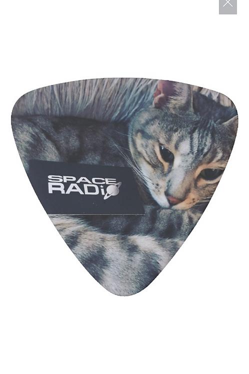 Space Radio Cat Guitar Pick