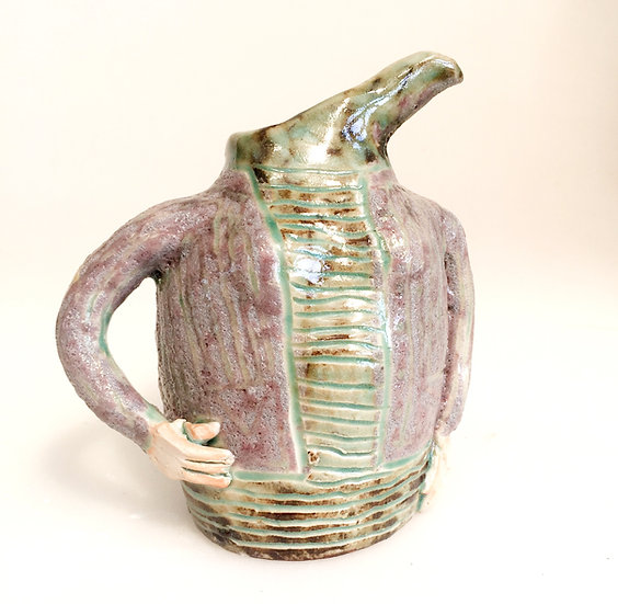small quirky green lady jug