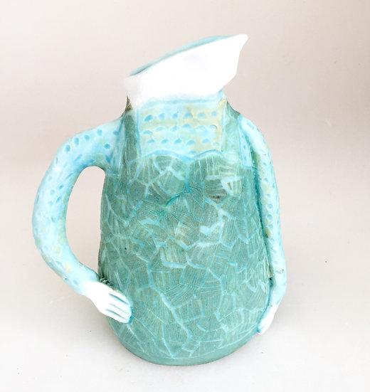 turquoise lady jug