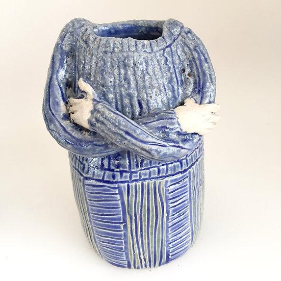 new blue lady jug