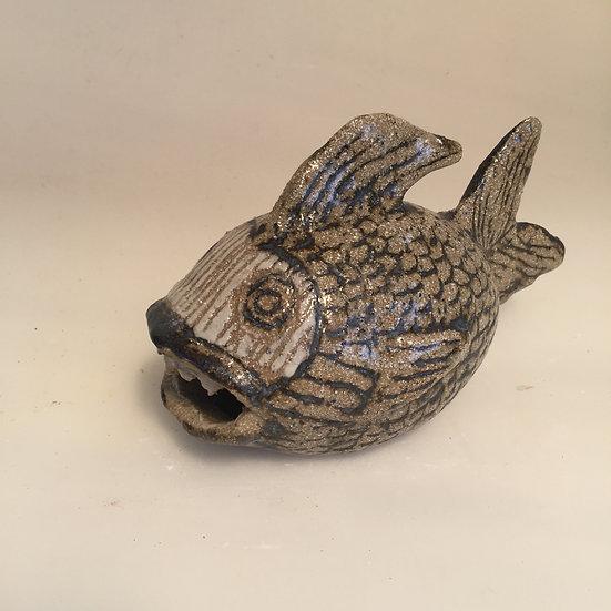 small brown stoneware fish