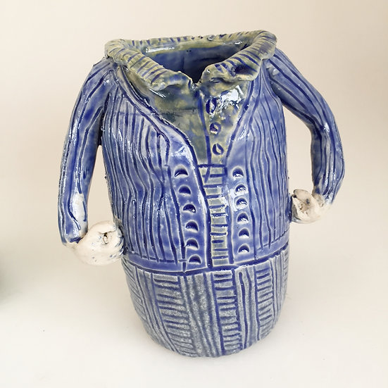 blue ladyjug with collar
