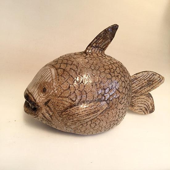 large stoneware fish