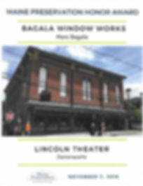 2018 Maine Preservation Lincoln Theater