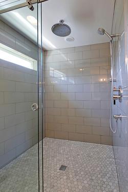 Waterfall shower w/ dual heads