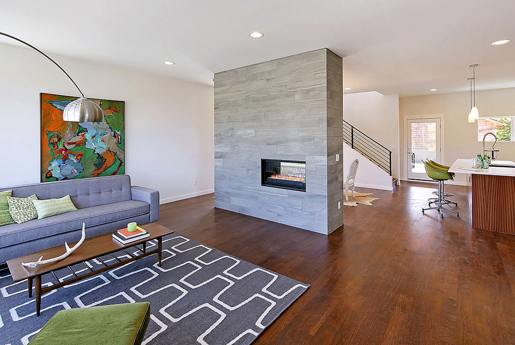 See through gas fireplace