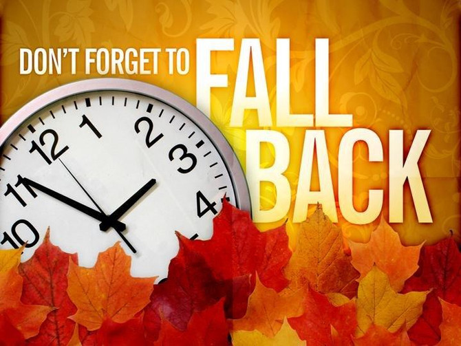 Fall Back is this weekend