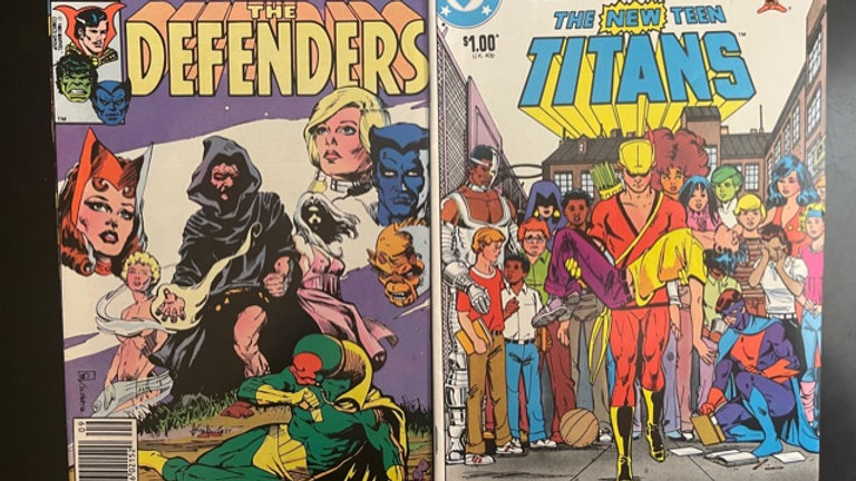 2 Vintage Comics. The New Teen Titans and The Defenders