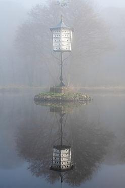 Strines Dovecote in mist
