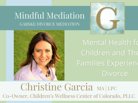 Mental Health for Children and Their Families Experiencing Divorce
