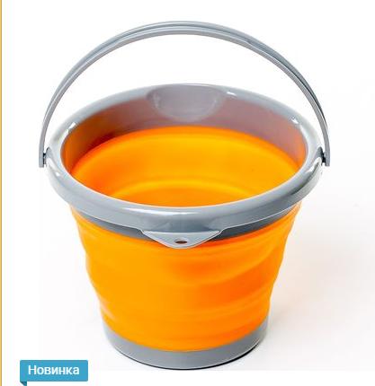New Відро складне силіконове Tramp 5L orange