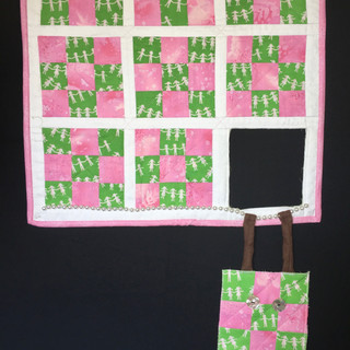 Hang in there - pink and green