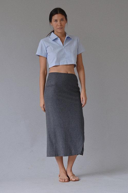 Kostüm V Jill Sander Wool Cashmere Blend Slit Skirt