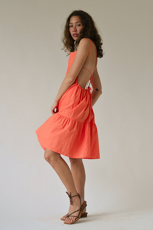 Lantanas Tier Dress Coral (pre-order)