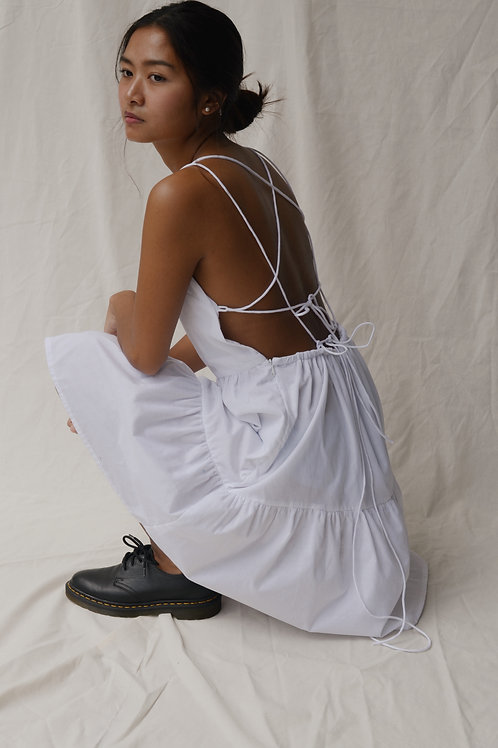 Lantanas Tier Dress White (pre-order)