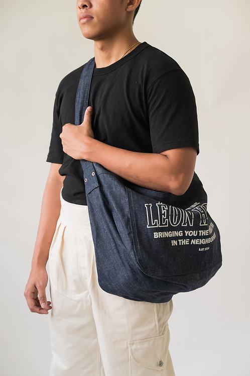 Leon Denim Newsboy Bag Denim