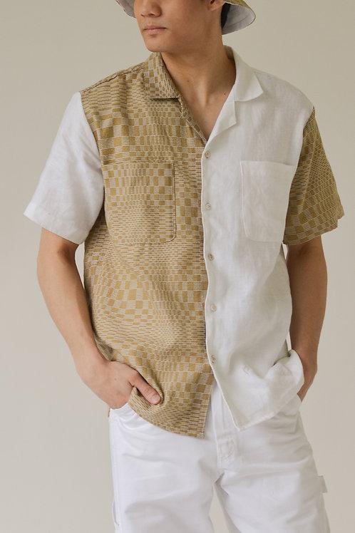 Men's Binakol Camp Collar Shirt Dune/White (pre-order)