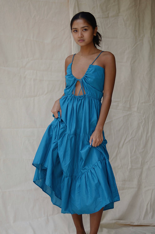 Idalia Tier Maxi Dress Teal (pre-order)