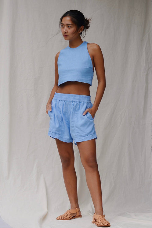 Patch Pocket Shorts Cerulean (pre-order)