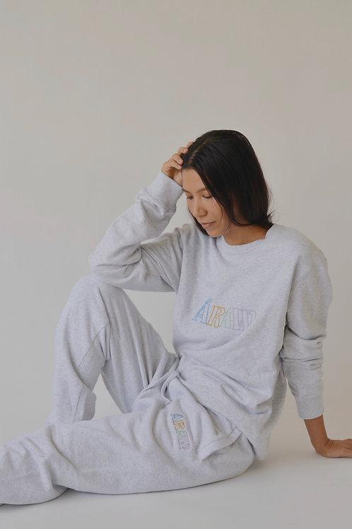 Áraw Outline Sweatshirt Grey