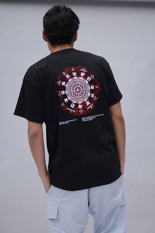 Tropical Futures Here & Now SS Shirt Black