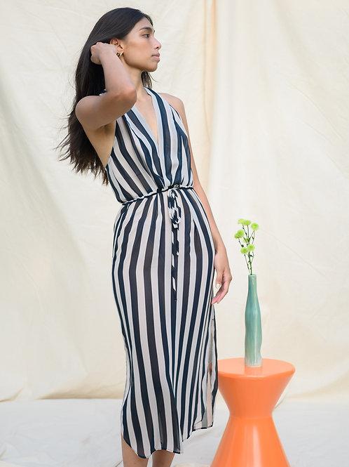 Vista Maxi Dress Black/Cream