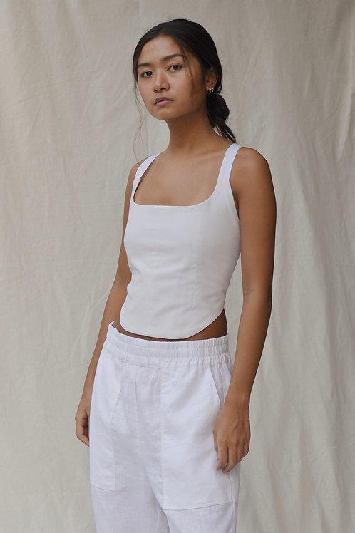 Corset Tali Top White (pre-order)
