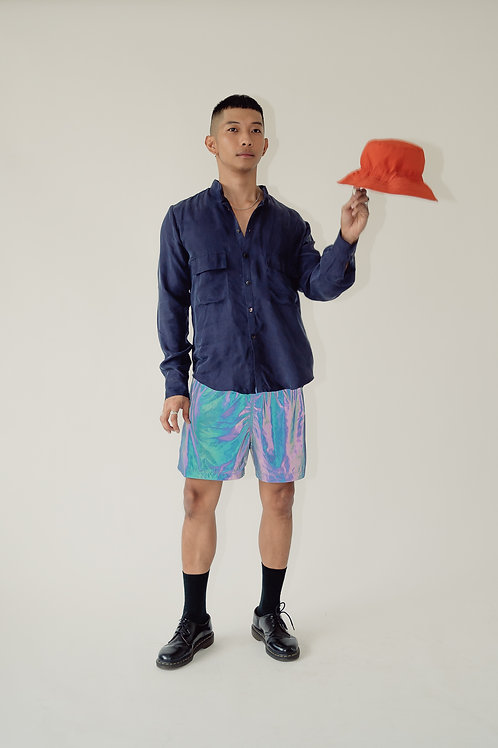 Tropa Reflective Swim Shorts Blue