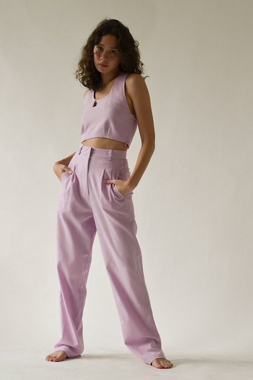 Pleated Trousers Lilac