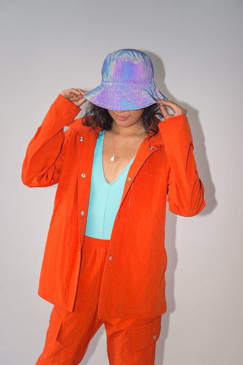 Tropa Reflective Bucket Hat Blood Orange/ Blue