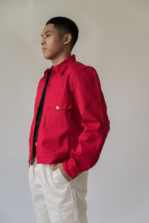 Leon Denim Cardinal Jacket Red