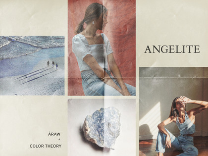 Color Theory* Natural Elements: Angelite, Sand, Clay & Lagoon