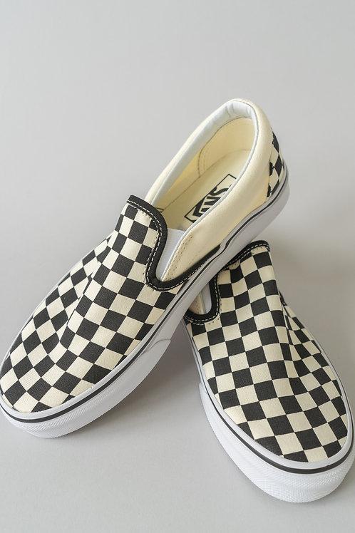 Vans Classic Slip-Ons Black & White Checkerboard