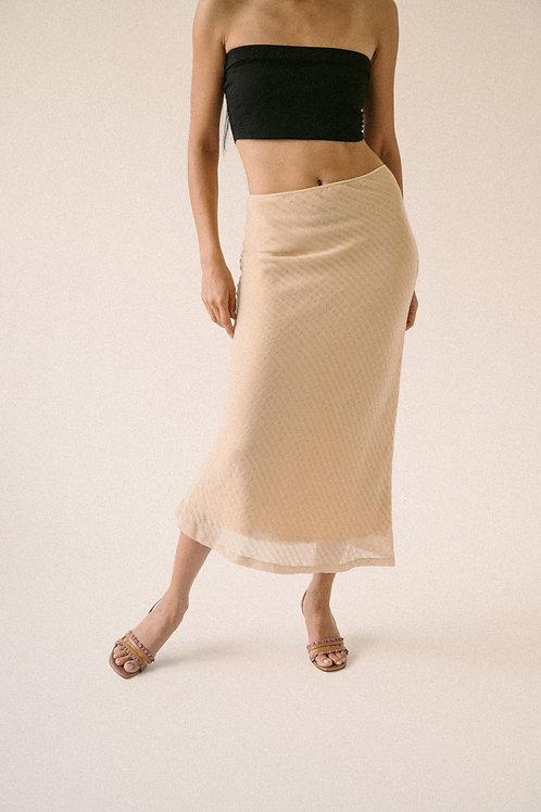 Kostüm V Dice Linen Skirt