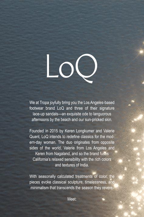 An endless summer: Introducing — LoQ