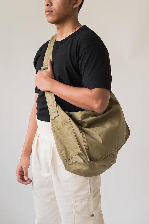 Leon Denim Newsboy Bag Olive