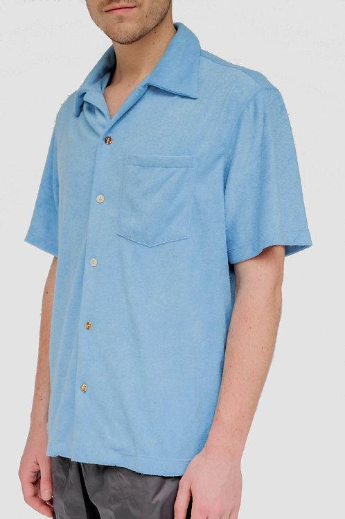 Tropa Terry Hawaiian Shirt Midblue