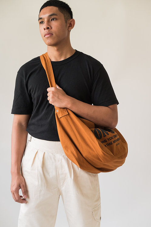 Leon Denim Newsboy Bag Brown